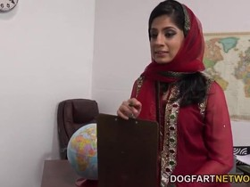Arab teacher Nadia Ali gangbanged by a bunch of black cocks