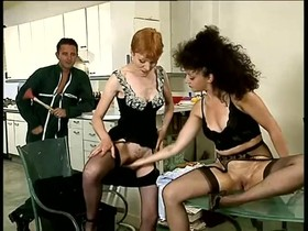Amazing vintage full-length movie with hardcore threesome scenes