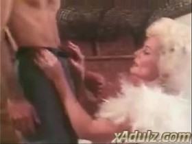 Retro Grey Haired Granny Gives Sensual Deepthroat and Tit Job