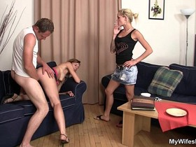 Daughter watches her mom and boyfriend fucking