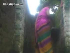 Indian village aunty bath