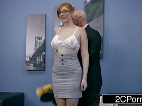 Ginger Bimbo Lauren Phillips Gets Pounded At Work