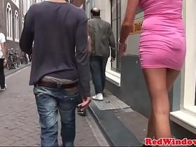 Busty dutch whore screwed in threeway
